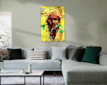 Man met tulband rookt een sigaar van The Art Kroep