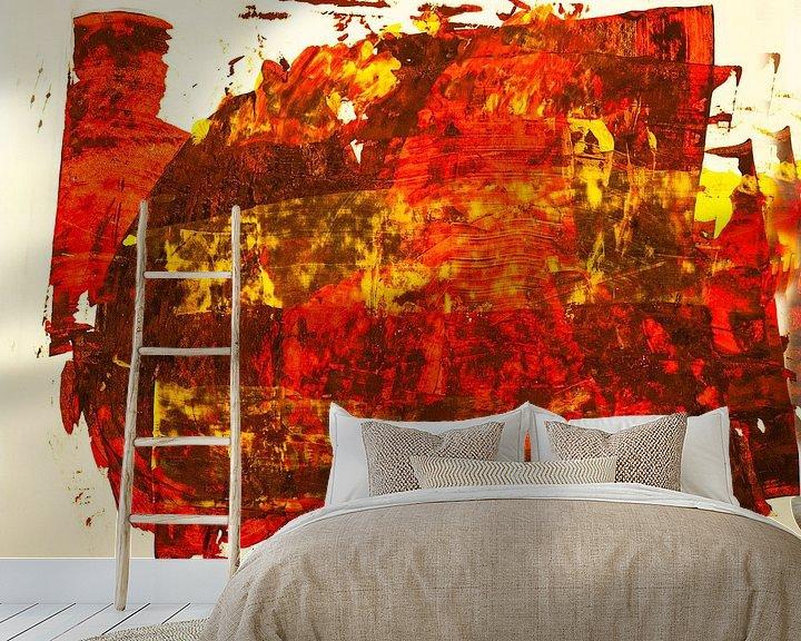 Beispiel fototapete: Rotgelbe Rakelfläche von Klaus Heidecker