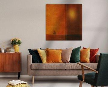 Fantasy abstract met bomen van Joost Hogervorst