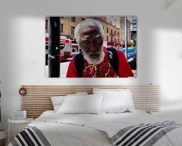 Obdachloser Mann San Francisco von Remco Artz