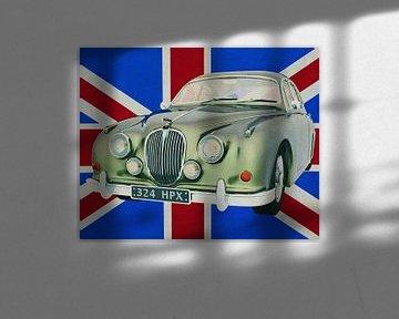 Jaguar MK-Sedan uit 1963 voor de Britse vlag