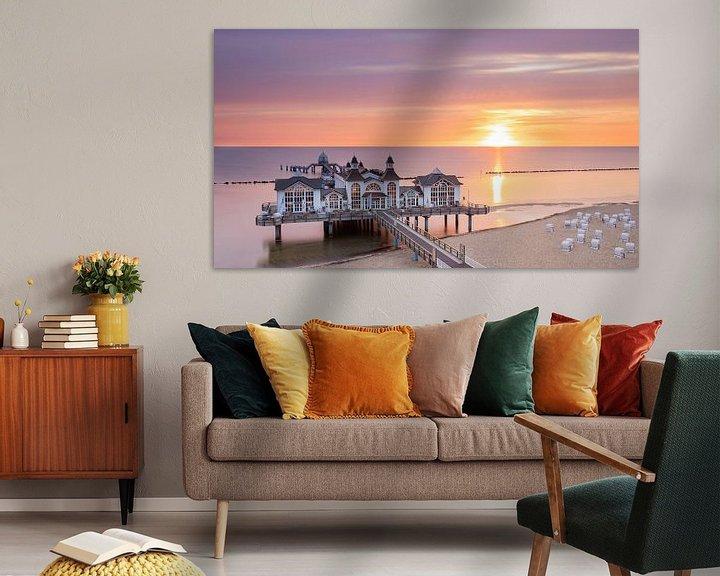 Beispiel: Sonnenaufgang an der Seebrücke von Sellin, Rügen, Deutschland von Adelheid Smitt