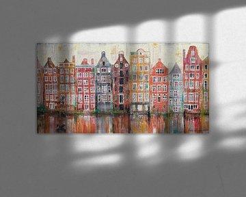 Amsterdam Damrak van Atelier Paint-Ing