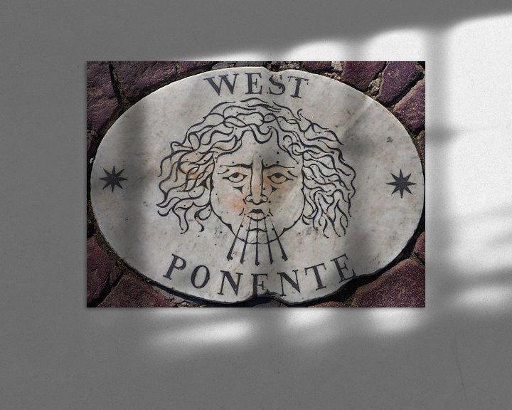 Sfeerimpressie: West, Potente, 1 van vier windstreken van het St Pietersplein (1/4) van Atelier Liesjes