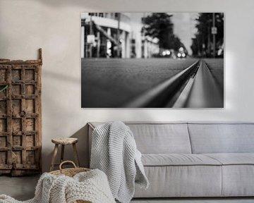 Tramrails in Den Haag van Bart van Lier
