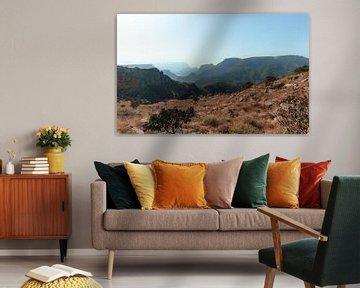 De bergen in Graskop, Zuid Afrika van Ian Schepers