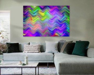 farbenfrohes Meer von Wim Beunk