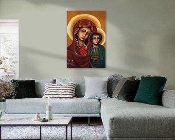 Maria met kind Jezus van Jolanta Mayerberg