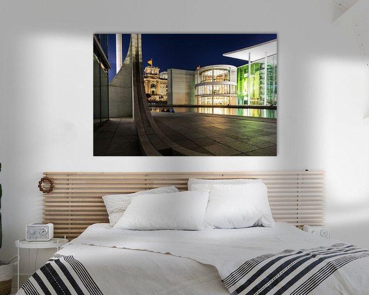 Impression: La nuit dans le quartier du gouvernement de Berlin sur Frank Herrmann