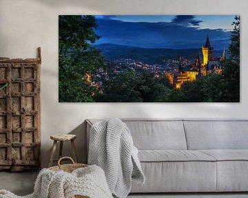 Wernigerode und Schloss zur blauen Stunde von Frank Herrmann