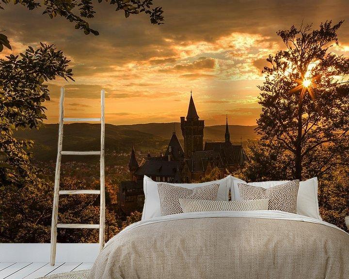Impression: Wernigerode et son château au coucher du soleil sur Frank Herrmann