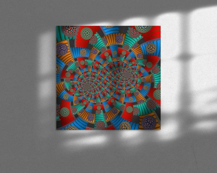 Sfeerimpressie: Dubbele Spiraal van Trappen en Cirkels van Tis Veugen