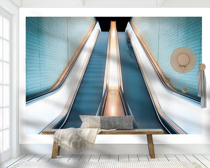Beispiel fototapete: Die Rolltreppe nach oben von koennemans