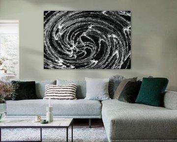 Abstract in zwart wit van Maurice Dawson