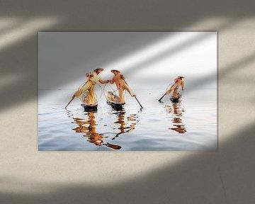 Fischer auf dem Inle-See von Antwan Janssen