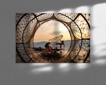 Fischer auf dem Inlemeer von Antwan Janssen