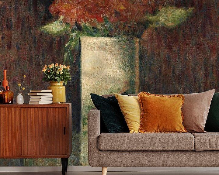 Beispiel fototapete: Blumenvase, Georges Seurat