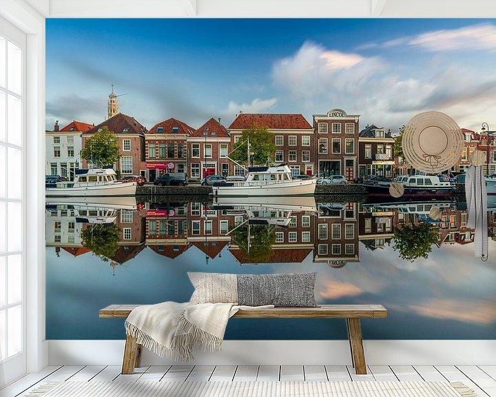 Sfeerimpressie behang: Spaarne Door Haarlem van koennemans