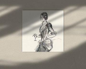 Mode Bleistiftzeichnung von David Potter