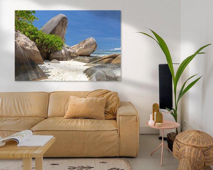 Beispiel: Strand Anse Source D'Argent auf der Seychellen Insel La Digue von Reiner Conrad