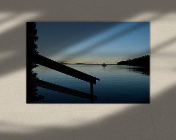 Steiger aan een Fins meer van Jan Verschoor