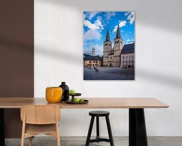 Kirche und Schlossplatz in Berchtesgaden von Rico Ködder