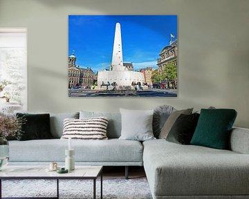 Denkmal auf dem Dam-Platz in Amsterdam in den Niederlanden von Nisangha Masselink