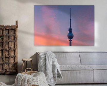 Sonnenaufgang in Berlin am Fernsehturm