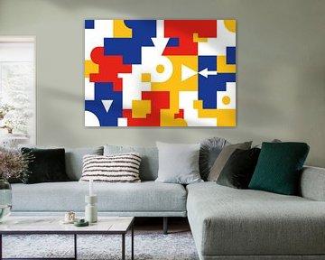 Geometrische Bauhaus-Collage von Raymond Wijngaard