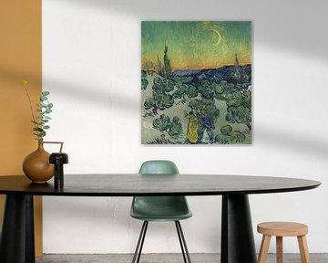 Een wandeling in de schemering, Vincent van Gogh
