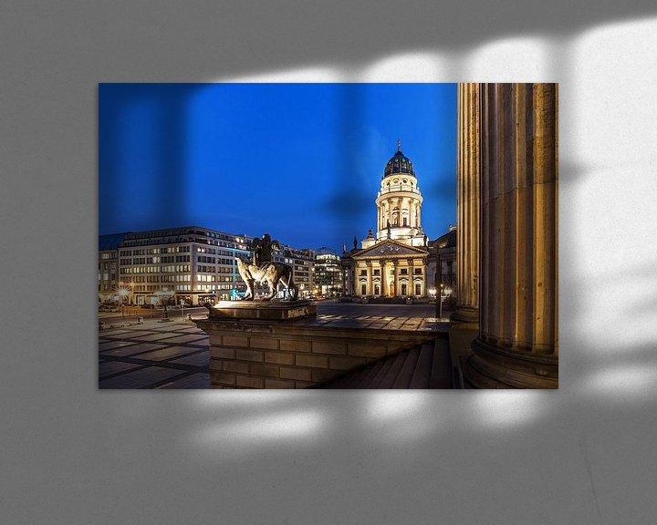 Impression: Berlin Gendarmenmarkt - Cathédrale et sculpture allemandes sur Frank Herrmann