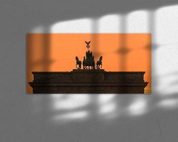 Zonsondergang bij de Brandenburger Tor