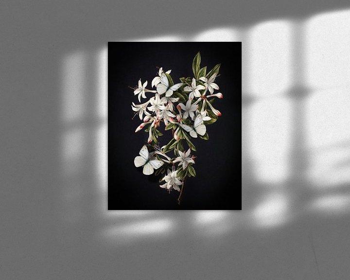 Impression: The Flowering Azalea - Butterflies Edition sur Marja van den Hurk
