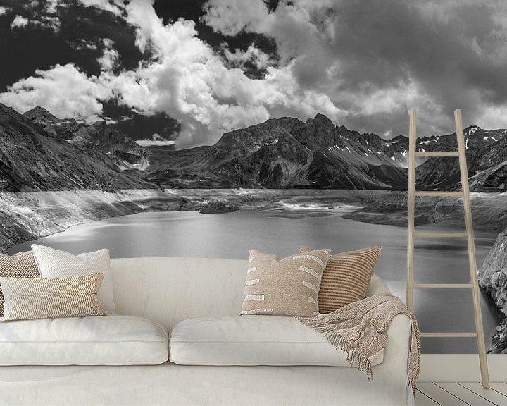 Beispiel fototapete: Bergpanorama Lünersee von Peter Moerman