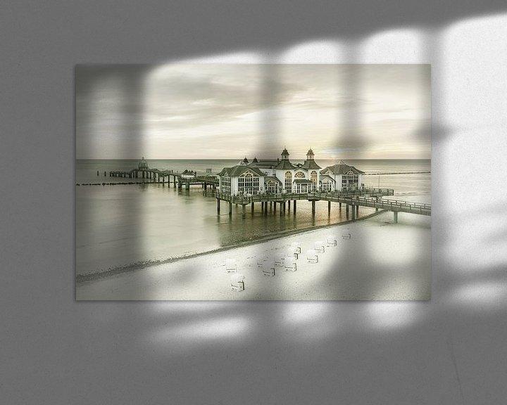 Sfeerimpressie: RÜGEN pier in Sellin bij zonsopgang   Vintage van Melanie Viola
