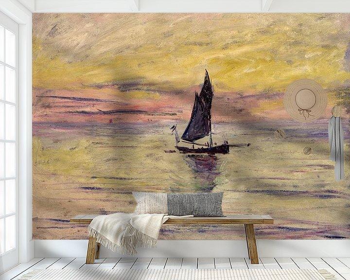 Beispiel fototapete: The Sailing Boat, Evening Effect - Claude Monet