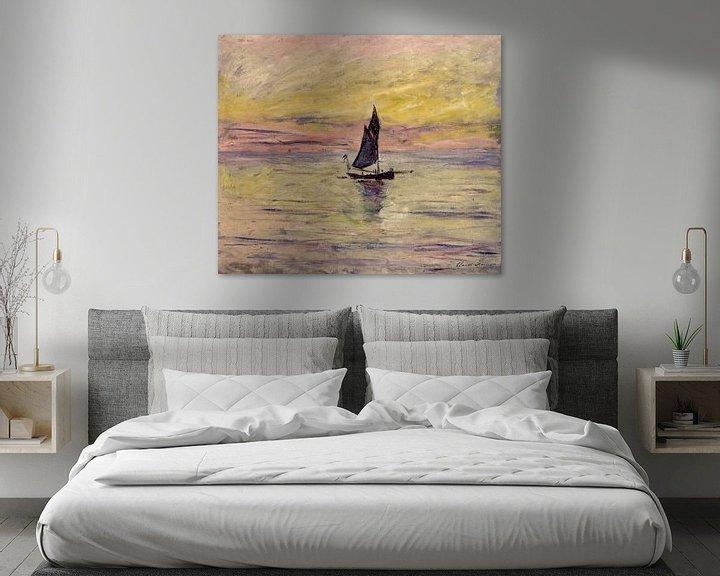 Beispiel: The Sailing Boat, Evening Effect - Claude Monet