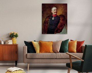 Portret van keizer Wilhelm II.