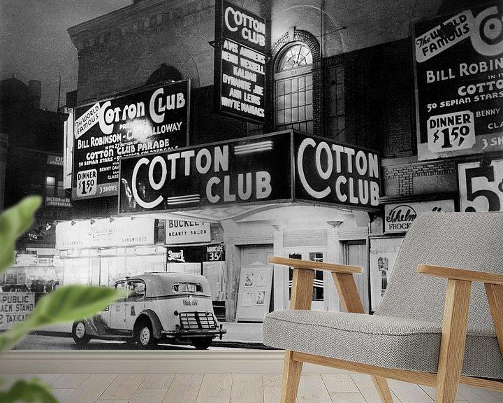 Sfeerimpressie behang: De Cotton Club in Harlem New York, 1938 van Bridgeman Images