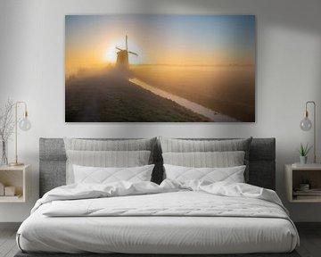 Mühle in der Sonne von Robert van der Eng