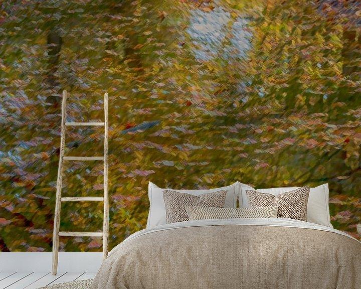 Sfeerimpressie behang: herfstkleuren van Corrie Ruijer