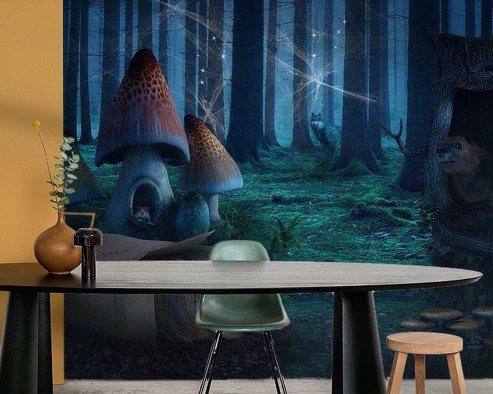 Beispiel fototapete: Märchenhafter Wald von Angela Dölling