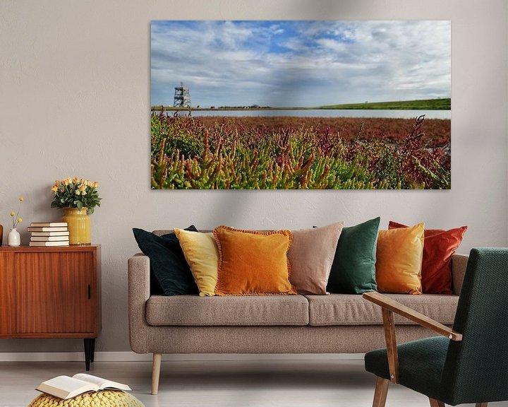 Impression: Le samphire des marais en Zélande sur Zeeland op Foto