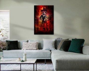 Brandweervrouw, Ram, Goth van Kahl Design Manufaktur