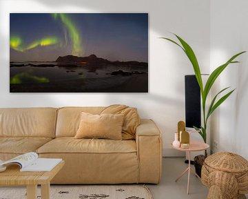 Intensives Nordlicht auf den Lofoten von Kai Müller