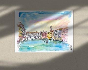 Venedig Rialto und Canal Grande bei Sonnenuntergang von Markus Bleichner