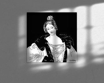Porträt von Caroline, Gräfin von Holnstein von Zoë Hoetmer
