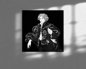 Porträt von Anthony van Dyck von Zoë Hoetmer