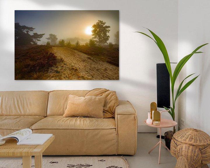 Sfeerimpressie: Heidelandschap zonsopkomst van Teuni's Dreams of Reality