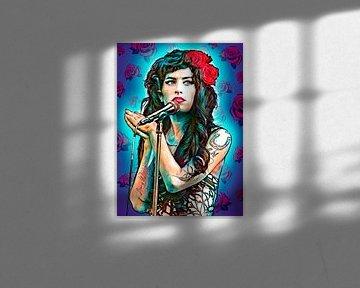 Pop-Art-Kunstwerk von Amy Winehouse von Martin Melis